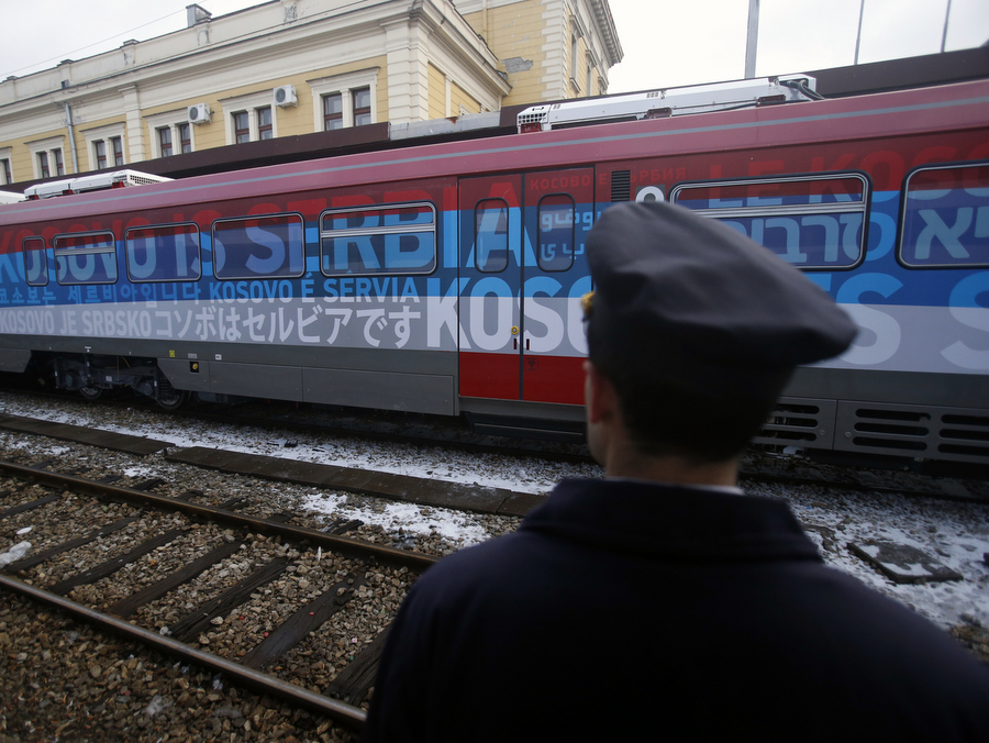Nationalist' Train Stuns Serbian Rail Passengers | Balkan