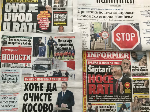 Headlines Of Serbian Newspapers From November 22 Photo Birn