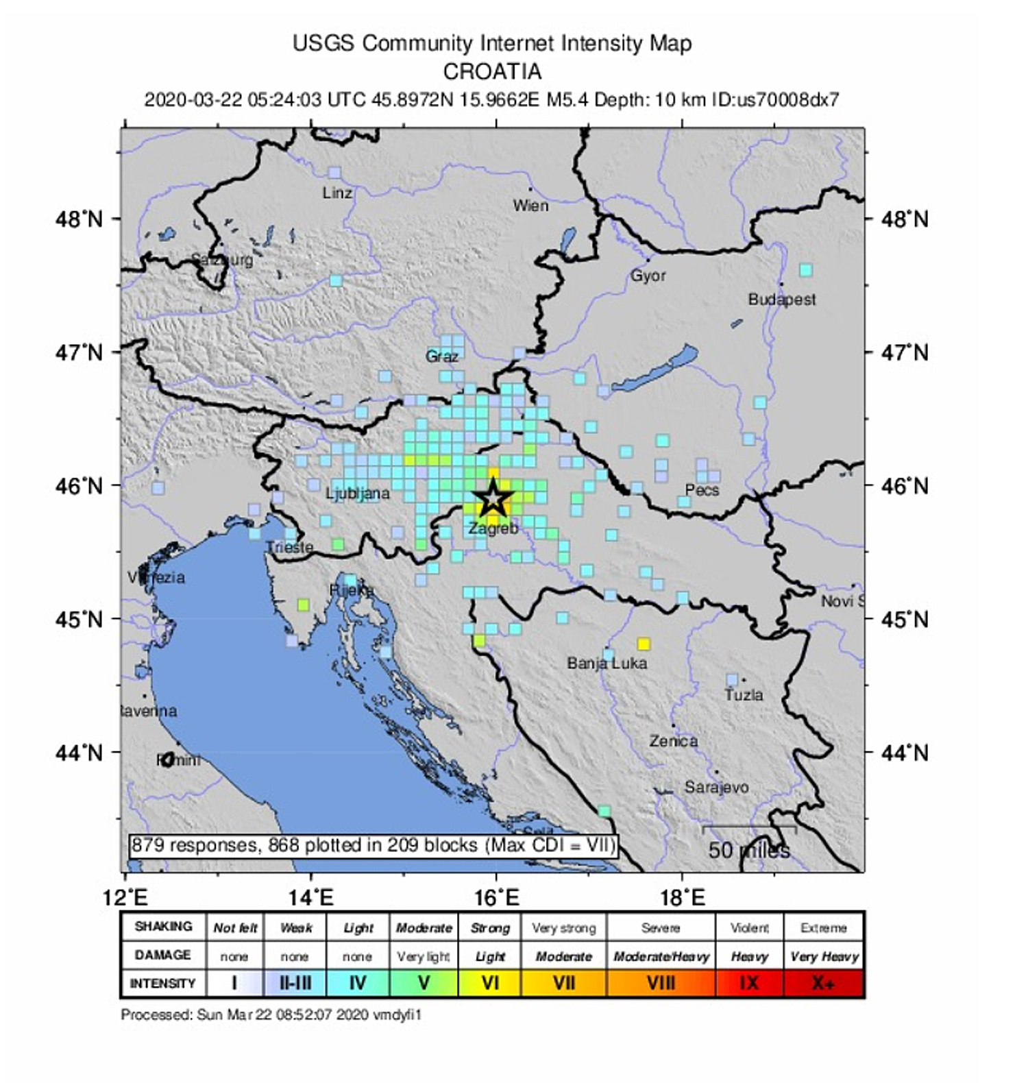 Powerful Earthquake Rocks Croatian Capital Zagreb Balkan Insight