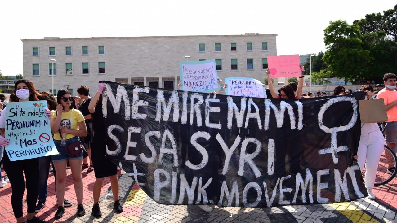 Albanian Women Protest in Street Against Sexual Violence | Balkan Insight