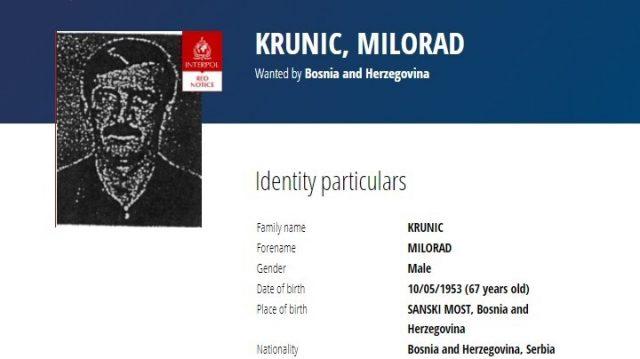 Interpol Calls for Arrest of Bosnian Serb War Suspect