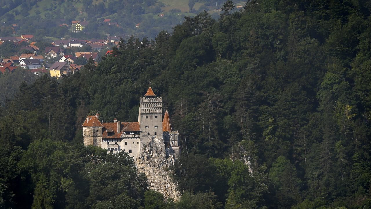 Bran Castle in Romania which is often associated with the myth of Lord Dracula. Photo: EPA/ROBERT GHEMENT