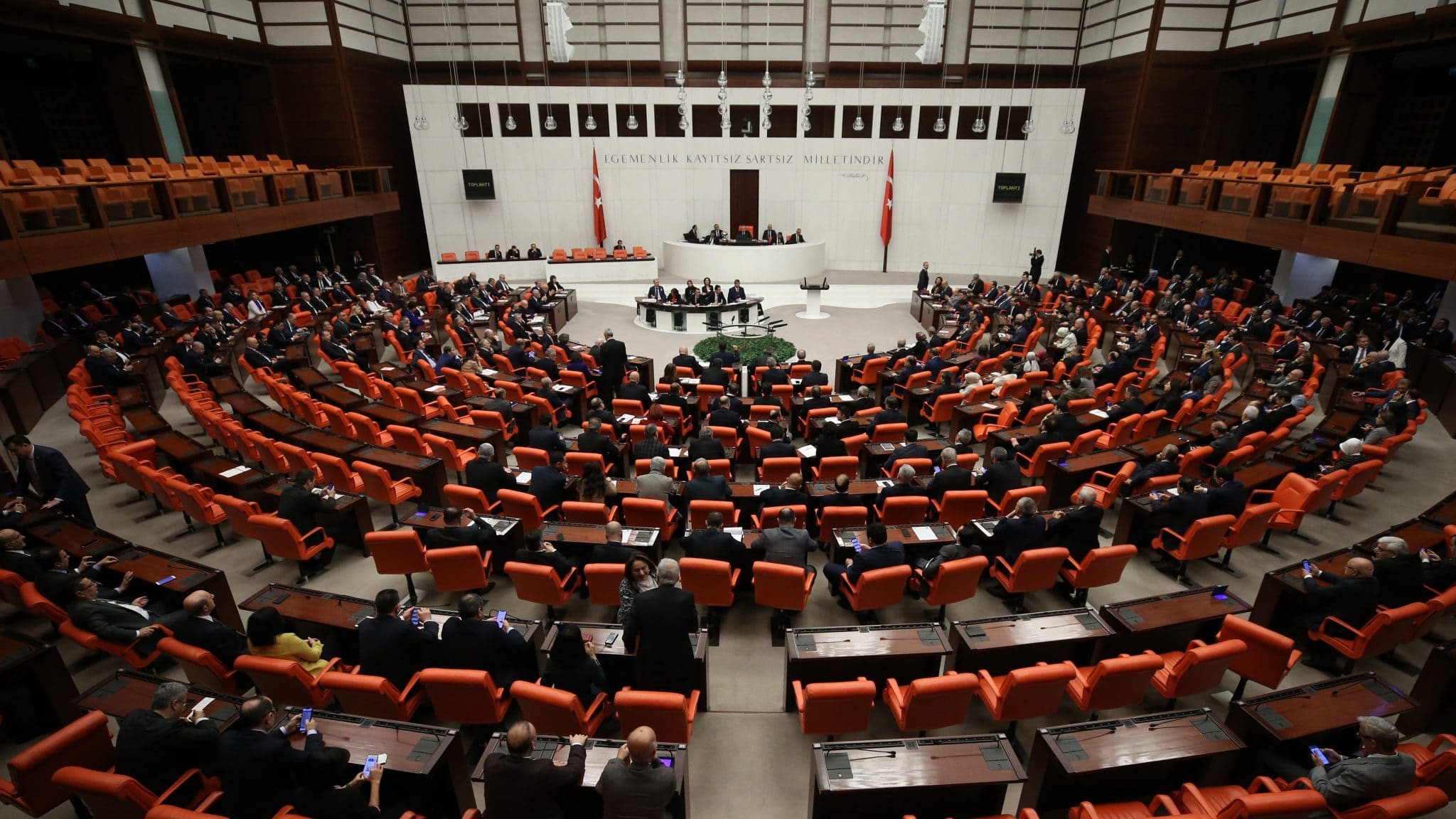 Turkish Parliament passes 1st part of security probe bill
