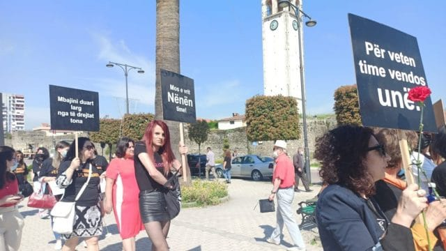 Activists Protest Against Killing of Women in Albania